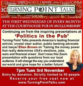 Ellen Brown – Tuesday 3rd Nov